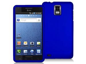 Samsung Infuse 4G i997 Blue Rubberized Snap-On Hard Case