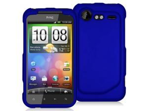 HTC Droid Incredible 2 6350 Blue Rubberized Snap-On Hard Case