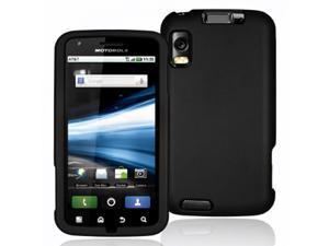 Motorola Atrix 4G MB860 Black Rubberized Snap-On Hard Case