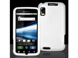 Motorola Atrix 4G MB860 White Rubberized Snap-On Hard Case