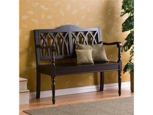 Accent Wood Hallway Bench - Black