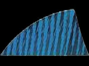 "Gateway Feather Rayzr 2"" Rw Feathers Blue Barred"