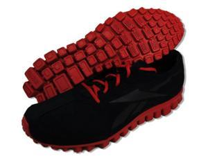Reebok RealFlex Run Black Excellent Red Mens Athletic Running Shoes