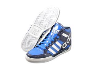Adidas Mens Hard Court Hi Big Logo Blue basketball-shoes