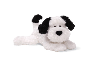 "Ripple White & Black Dog 13"" by Gund"
