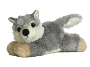 Aurora 8'' Plush WOOLSEY The Mini Flopsie Wolf