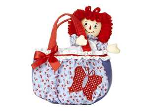 "Raggedy Ann Butterfly Fancy Pal Carrier 6"" by Aurora"