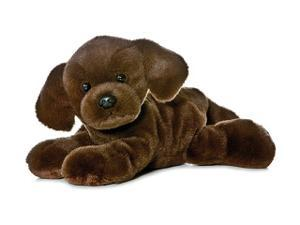 "Lil Lucky Chocolate Lab Mini Flopsie 8"" by Aurora"