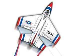 "Thunderbirds F-16 Fighting Falcon 82"" Wingspan 3-D Dual-Control Jet Kite"