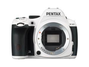 PENTAX K-50 (10928) White Digital SLR Camera - Body