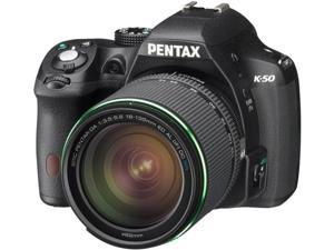 PENTAX K-50 (10916) Black Digital SLR Camera with 18-135mm Lens