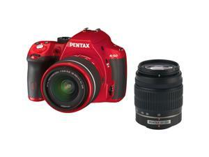 PENTAX K-50 (10997) Red Digital SLR Camera with 18-55mm f/3.5-5.6 and 50-200mm f/4-5.6 Lenses