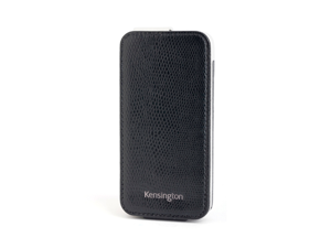 Kensington Portafolio Black Snake Solid Flip Wallet for iPhone 5 K39610WW