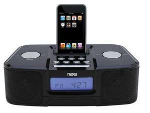 NEW Naxa NI-3103B Alarm Clock AM FM Radio iPod Docking Station NX-3103