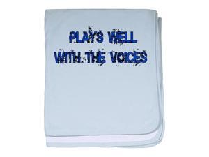 plays well with the voices infant blanket by CafePress