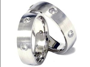 TRENDY 1.50CT 6mm Matching Diamond Wedding Ring Bands 950 Palladium