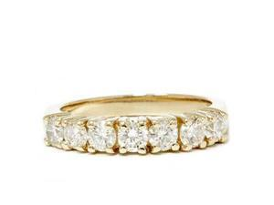 Women's Ring 1.00CT Geniune Diamond Wedding Anniversary Band 14K Yellow Gold New