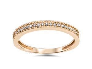 .25CT Small Filigree Diamond Women Petite Vintage Ring Rose Gold Antique Wedding