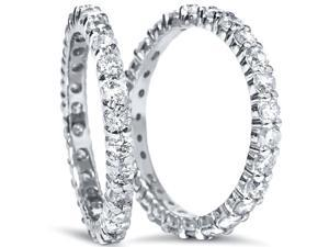 2.00CT Diamond Eternity Wedding Ring Eternity Stackable Guard Ring Band Set 4-9
