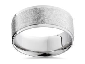 Mens Matte 8 MM Solid Platinum Comfort Fit Wedding Ring Band Comfort Fit