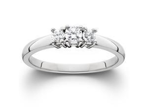 .50CT 3 STONE DIAMOND ENGAGEMENT ANNIVERSARY RING WHITE GOLD THREE ROUND CUT 4-9