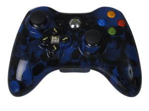 Blue Skullz Xbox 360 Controller with Evil D-Pad