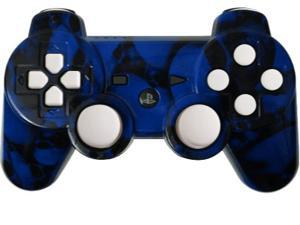 Custom Playstation 3 PS3 Controller: Blue Skullz with White Add-Ons