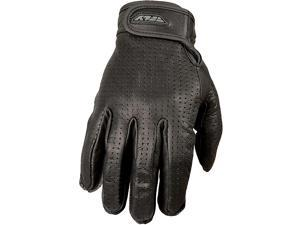 FLY Racing Rumble Thin Perforated Leather Street Gloves Black 3XL