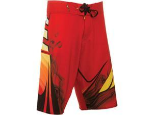 FLY Racing Acetylene Mens Board Shorts Red/Yellow 38