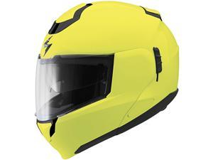 Scorpion EXO-900 Solid Modular Helmet Neon Yellow 2XL