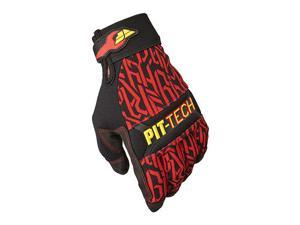 FLY Racing Pit Tech Pro Gloves Red SM