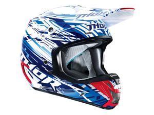 Thor Verge Helmet Twist Blue/White XL