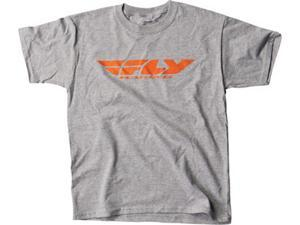 FLY Racing Corporate Casual MX Offroad T-Shirt Gray SM