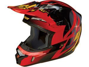 FLY Racing Kinetic Inversion MX Helmet Black/Red XL