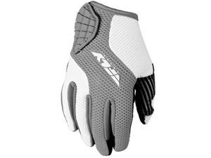 FLY Racing Coolpro Mesh Womens Textile Street Gloves White/Silver SM