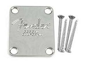 Fender Neckplates - American Standard Bass - Chrome
