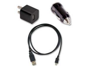 USB Cable + AC Wall & Car Charger for Verizon Samsung Galaxy Note II 2 SCH-i605
