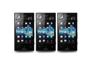Lot 3X Crystal LCD Screen Protector Film Cover for Sony Xperia Acro S LT26w