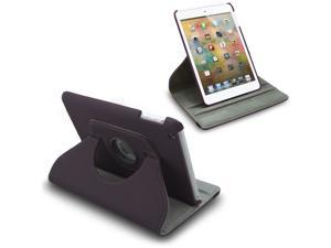 New For iPad Mini 360 Degree Rotating PU Leather Case Cover Stand Purple