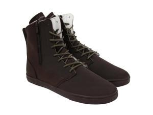 Radii Hampton Slim Chocolate Oiled Leather Mens High Top Sneakers