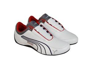 Puma Bmw Drift Cat 4 BMW White Medieval Blue Mens Lace Up Sneakers