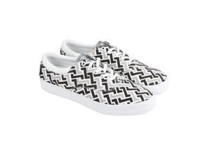 Radii Chord White Grey Charcoal Canvas Mens Lace Up Sneakers