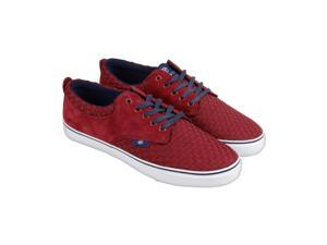 Radii The Jax Rosewood Navy Woven Suede Mens Lace Up Sneakers