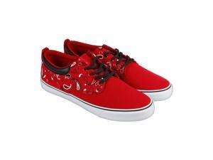 Radii The Jax Scarlet Paisley Mens Lace Up Sneakers