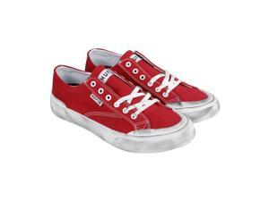 HUF Classic Lo Red Canvas Mens Lace Up Sneakers