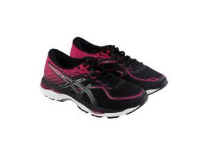 Asics Gel Cumulus 19 Black Silver Pink Peacock Womens Athletic Running Shoes