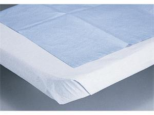 Medline NON24330A Disposable Tissue/Poly Flat Bed Sheets,White Case Of 25 EA