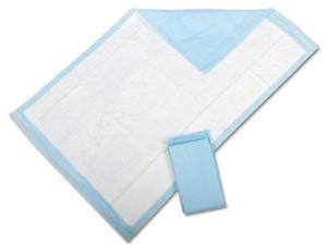 Medline MSC281236T Protection Plus Disposable Underpads,Blue Case Of 120 EA