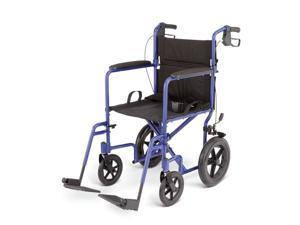 Medline MDS808210ABE Deluxe Aluminum Wheelchair, Blue Case Of 1 CS