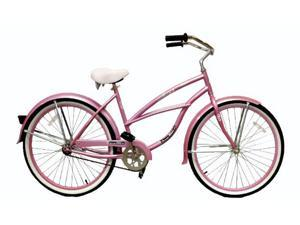 "2WheelBikes Women's 26"" Maui Beach Bike Cruiser (Pink)"